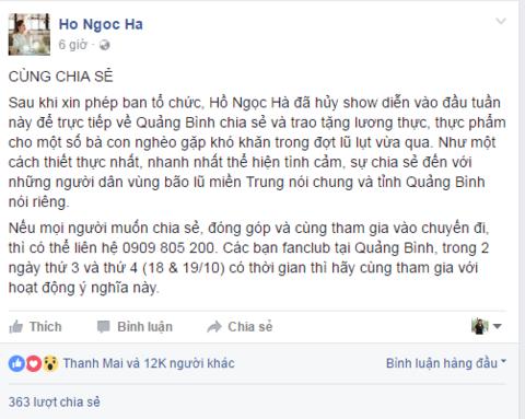 Nghệ sĩ Việt kêu gọi quyên góp hướng về miền Trung - Ảnh 1.