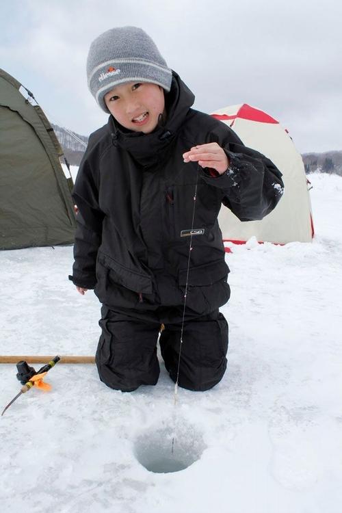 Câu cá trên băng hồ Haibara ở Nhật Bản - Ảnh 5.