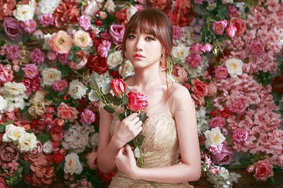 Ngắm bộ ảnh Hari Won mặc váy cưới trong MV Yêu không hối hận - Ảnh 1.