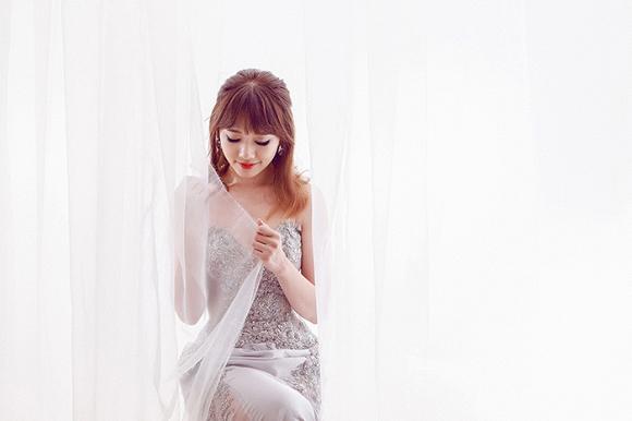Ngắm bộ ảnh Hari Won mặc váy cưới trong MV Yêu không hối hận - Ảnh 6.