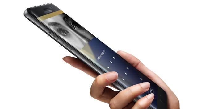 Galaxy Note 7 được trang bị tính năng bảo mật bằng mống mắt