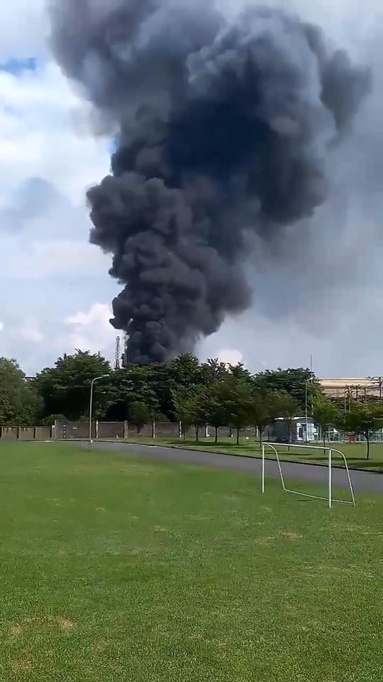 Nổ lớn tại công ty Vedan, cột khói đen bốc cao hàng chục mét - Ảnh 1.