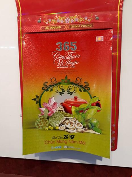 Bộ lịch 365 vị thuốc giành giải Nhất mẫu lịch Xuân Đinh Dậu - Ảnh 1.