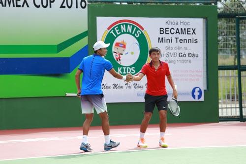 Lý Hoàng Nam vào chung kết đôi, tứ kết đơn F9 Futures - Ảnh 1.