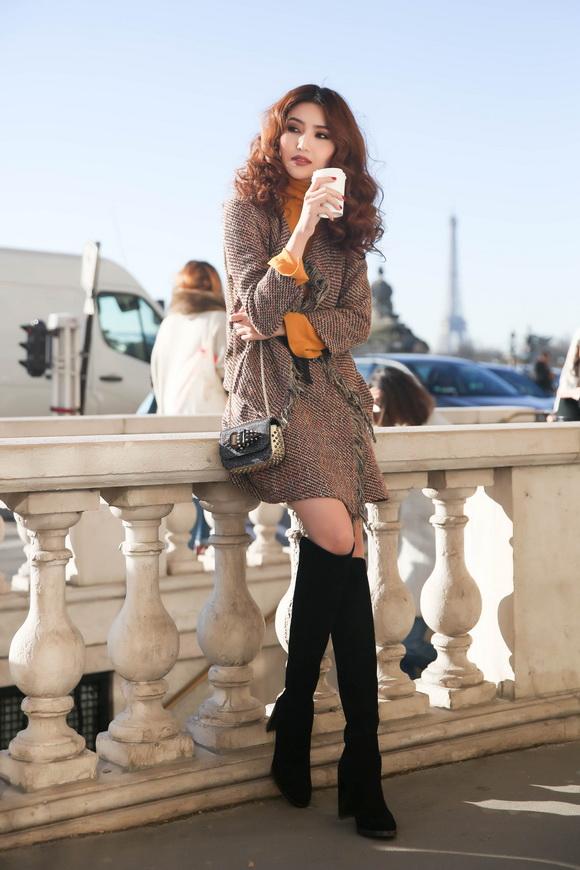 Ngọc Duyên khoe bộ ảnh thời trang cực chất tại Paris - Ảnh 4.