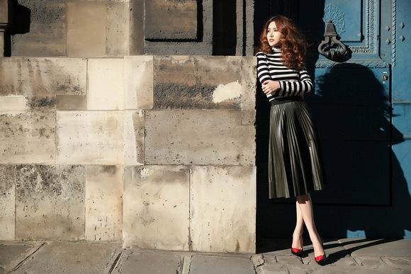 Ngọc Duyên khoe bộ ảnh thời trang cực chất tại Paris - Ảnh 1.