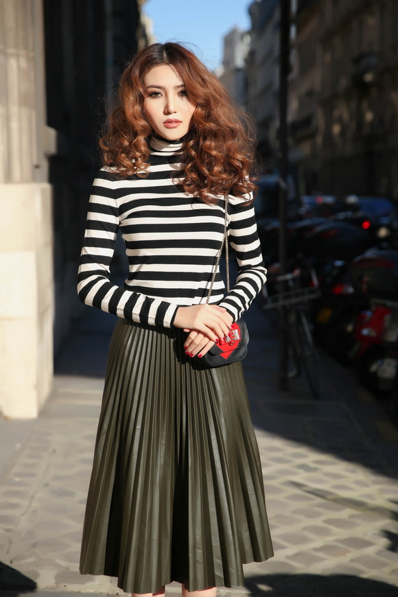 Ngọc Duyên khoe bộ ảnh thời trang cực chất tại Paris - Ảnh 2.