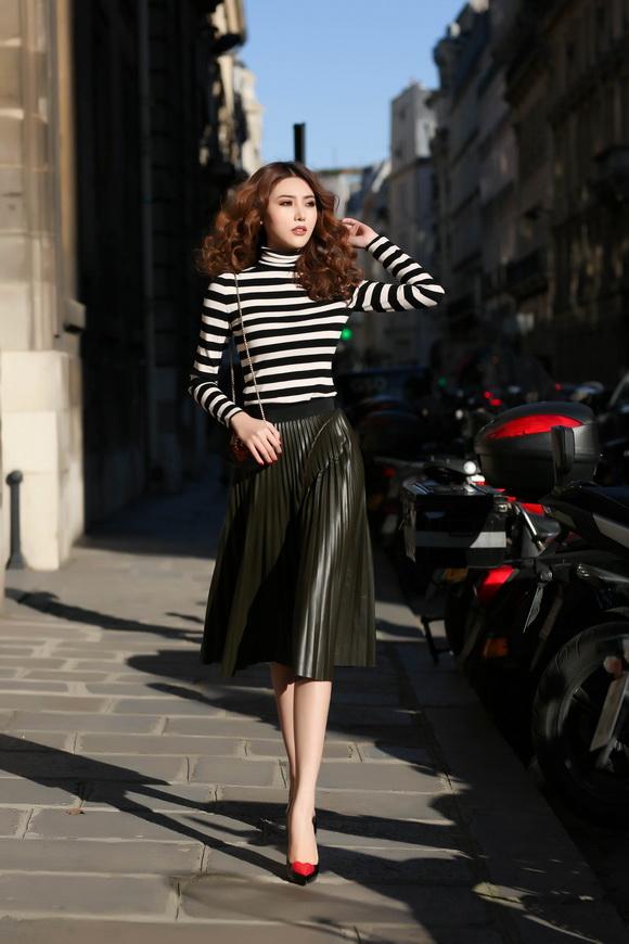 Ngọc Duyên khoe bộ ảnh thời trang cực chất tại Paris - Ảnh 3.