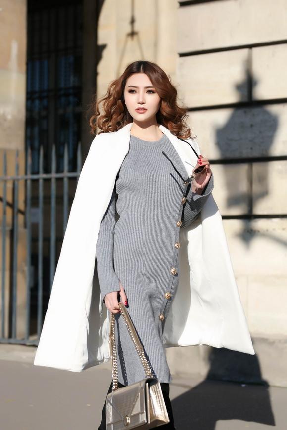 Ngọc Duyên khoe bộ ảnh thời trang cực chất tại Paris - Ảnh 9.