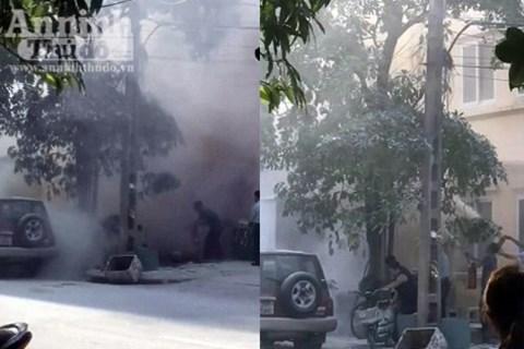 Hà Nội: Nổ trạm biến áp tại Hà Đông, 5 người bị bỏng - Ảnh 2.