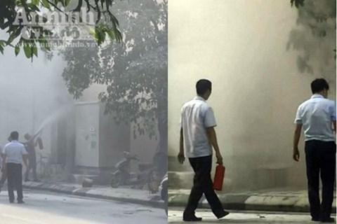 Hà Nội: Nổ trạm biến áp tại Hà Đông, 5 người bị bỏng - Ảnh 3.