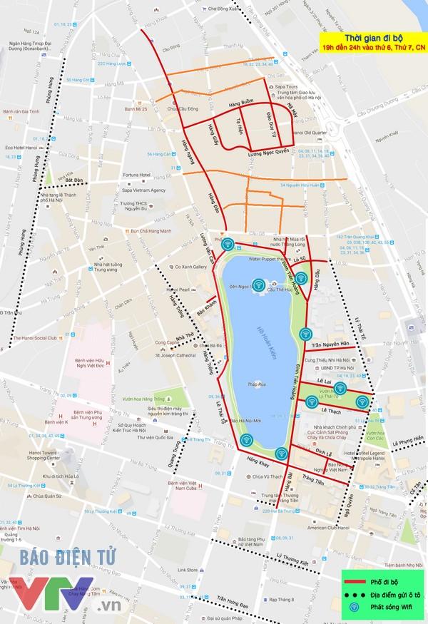 Bản đồ tuyến phố đi bộ Hà Nội mở rộng lần 3 - Ảnh 1.