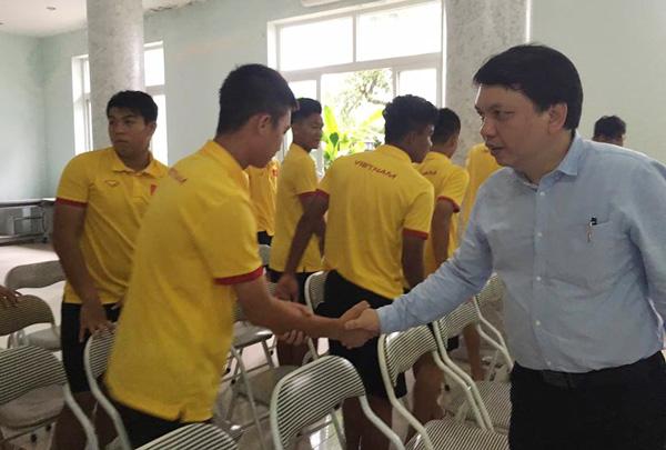 ĐT U16 Việt Nam nhận nhiệm vụ trước khi lên đường dự VCK U16 châu Á - Ảnh 1.
