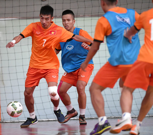 ĐT Futsal Việt Nam tổng duyệt, sẵn sàng ra quân gặp Guatemala  - Ảnh 1.