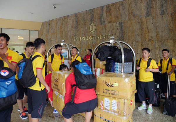 ĐT Futsal Việt Nam đã có mặt tại Bucaramanga chuẩn bị cho trận đấu với Italia - Ảnh 1.