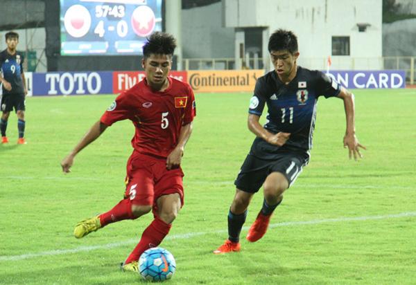 VCK U16 châu Á 2016: U16 Việt Nam thua U16 Nhật Bản 0-7 - Ảnh 1.