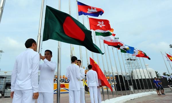 Sẵn sàng cho Lễ thượng cờ các quốc gia, vùng lãnh thổ tham dự ABG5 - Ảnh 1.