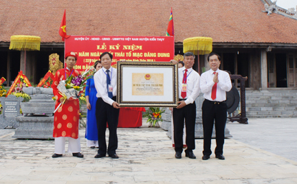 Kỷ niệm 475 năm ngày mất Thái Tổ Mạc Đăng Dung - Ảnh 1.