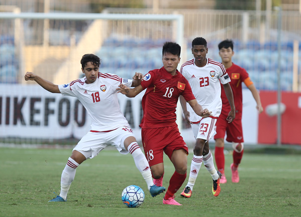 VIDEO U19 Việt Nam 1-1 U19 UAE: Đánh rơi chiến thắng đáng tiếc - Ảnh 3.
