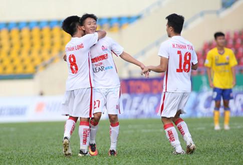 U21 HAGL thắng kịch tính U21 Đồng Tháp nhờ bàn thắng phút bù giờ - Ảnh 1.