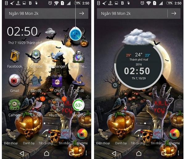 """""""Hóa trang"""" cho smartphone để đón Halloween với bộ giao diện cực độc đáo - Ảnh 1."""