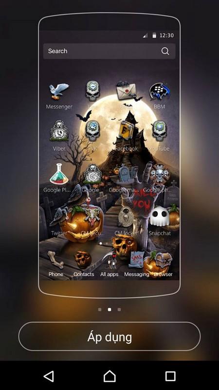 """""""Hóa trang"""" cho smartphone để đón Halloween với bộ giao diện cực độc đáo - Ảnh 2."""