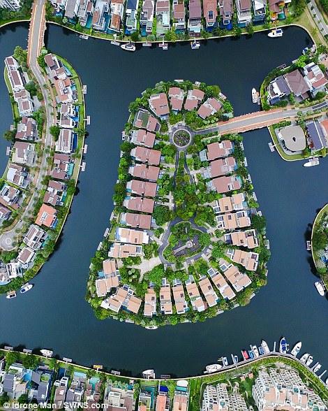 Ngắm Singapore rất lạ nhìn từ trên cao - Ảnh 2.
