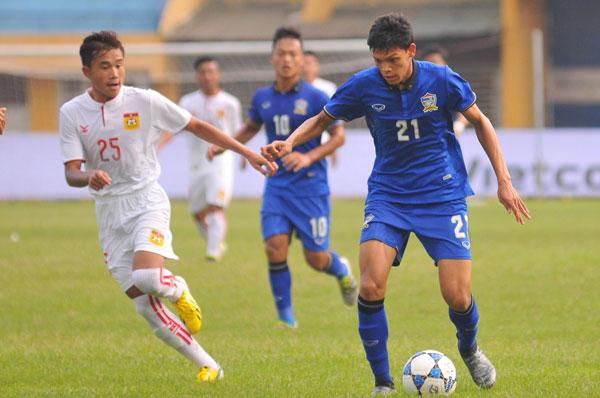 U19 Thái Lan nhọc nhằn thắng Lào trong ngày ra quân - Ảnh 1.