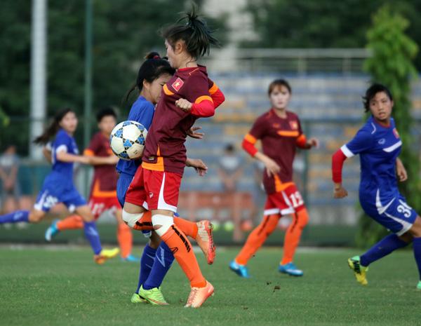 U19 nữ Quốc gia hoàn tất cữ dượt cuối cùng trước thềm VL U19 nữ châu Á 2017 - Ảnh 2.