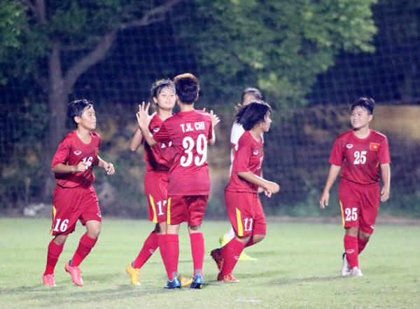 U16 nữ Việt Nam chia tay vòng loại giải châu Á 2017 bằng trận thắng 5-0 - Ảnh 3.