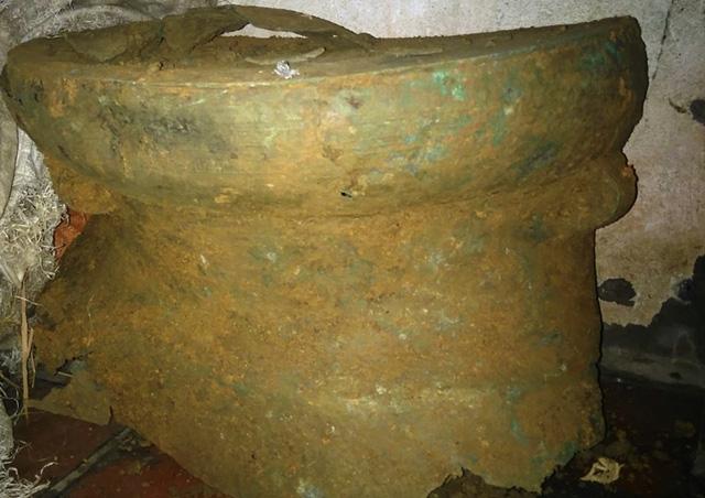 Phát hiện trống đồng cổ trong khu vực Di sản thế giới Thành Nhà Hồ - Ảnh 3.