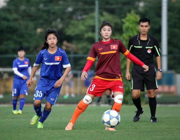 U19 nữ Quốc gia hoàn tất cữ dượt cuối cùng trước thềm VL U19 nữ châu Á 2017 - Ảnh 3.