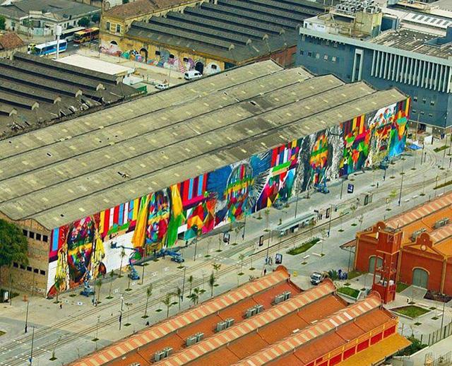 Nghệ sĩ lập kỷ lục vẽ tranh tường ăn mừng thế vận hội Olympic - Ảnh 4.