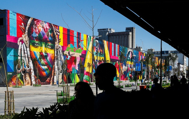 Nghệ sĩ lập kỷ lục vẽ tranh tường ăn mừng thế vận hội Olympic - Ảnh 5.