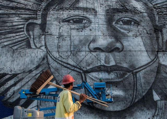 Nghệ sĩ lập kỷ lục vẽ tranh tường ăn mừng thế vận hội Olympic - Ảnh 6.