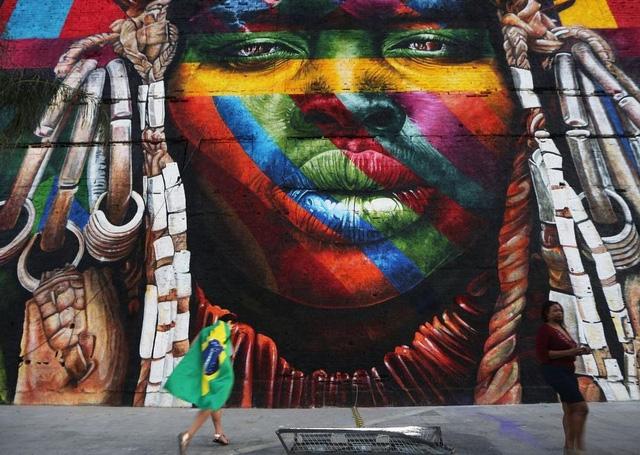 Nghệ sĩ lập kỷ lục vẽ tranh tường ăn mừng thế vận hội Olympic - Ảnh 8.