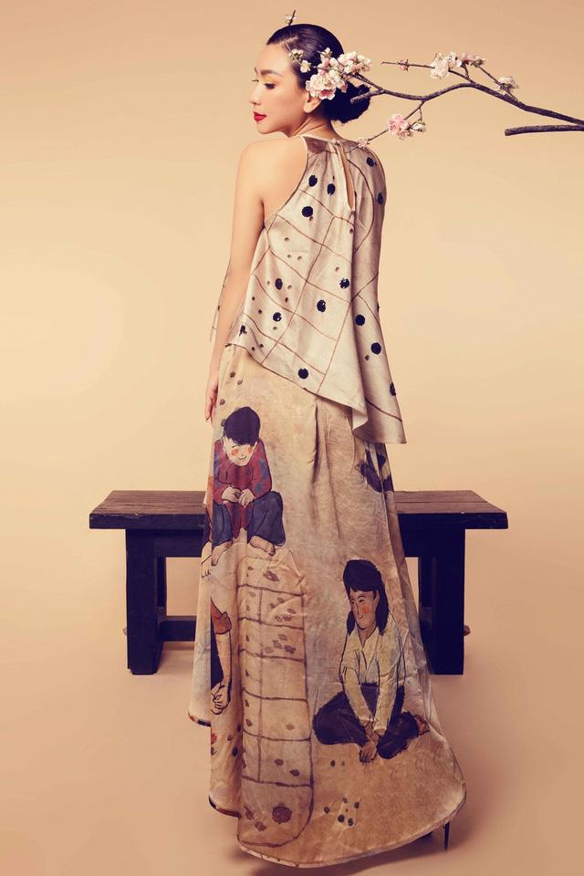Nữ hoàng ảnh lịch Y Phụng đài các với váy yếm cách điệu - Ảnh 8.