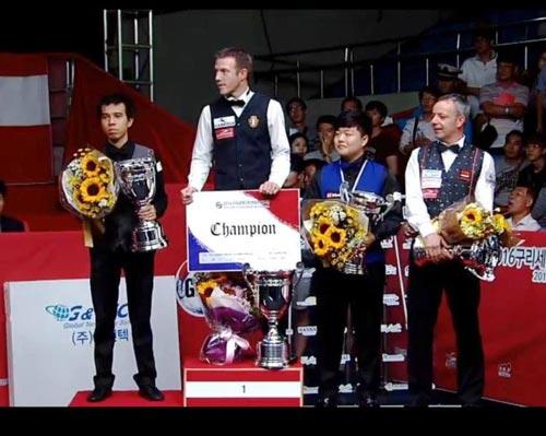 Trần Quyết Chiến giành á quân World Cup billiards, lên top 10 thế giới - Ảnh 2.