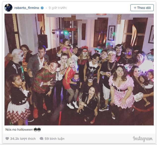 Dàn sao Liverpool cùng hóa ác nhân trong tiệc Halloween - Ảnh 1.