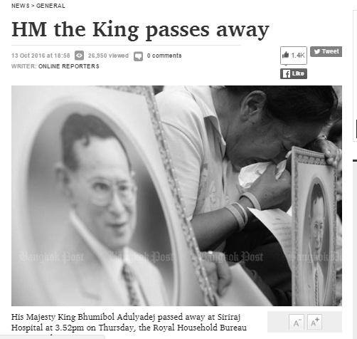 Người dân Thái Lan khóc nghẹn, tiếc thương Nhà vua Bhumibol Adulyadej - Ảnh 2.