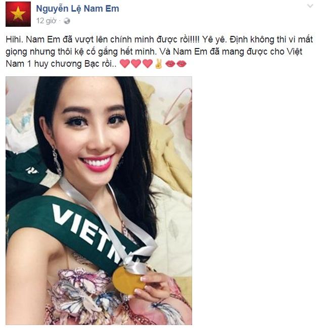 Nam Em giành Huy chương Bạc phần thi tài năng Miss Earth 2016 - Ảnh 1.