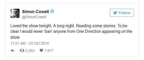 Simon Cowell không cấm cựu thành viên One Direction biểu diễn ở The X-Factor - Ảnh 1.