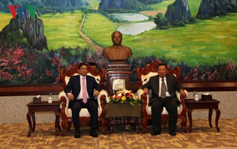 Lãnh đạo Lào tiếp Đoàn đại biểu cấp cao Ban Tổ chức Trung ương - Ảnh 1.