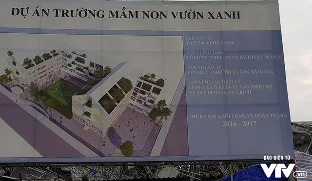 Hiện trường vụ đổ sập công trình trường mầm non Vườn Xanh ở Mỹ Đình - Ảnh 1.