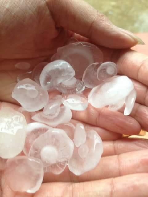 Huyện Ba Vì, Sơn Tây bất ngờ xuất hiện mưa đá - Ảnh 3.