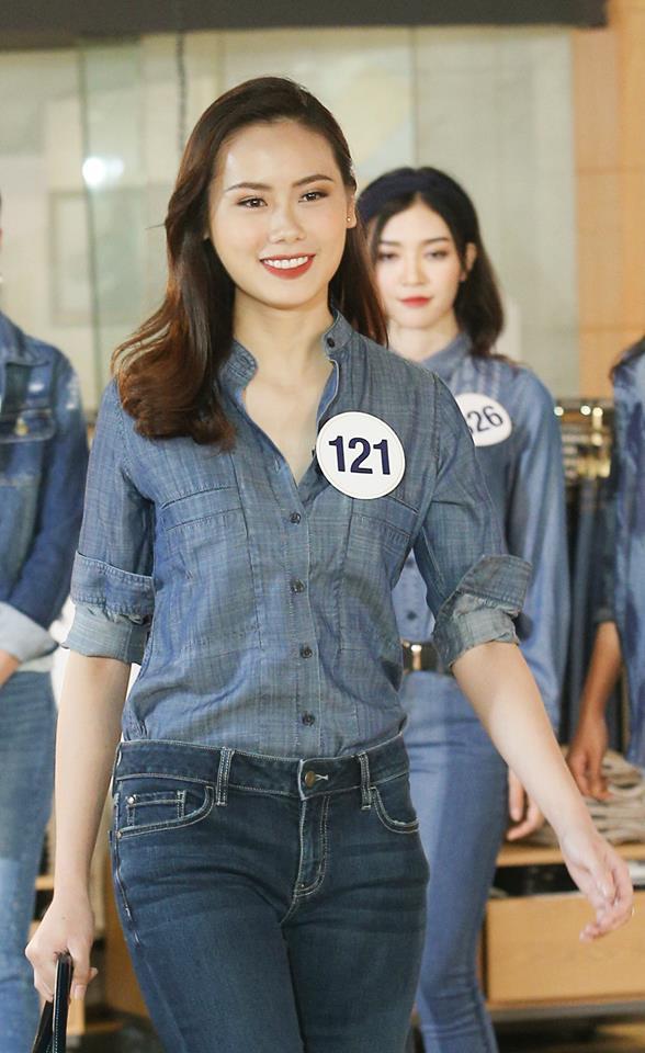 Dàn người đẹp Hoa hậu Hoàn vũ Việt Nam 2017 khoe sắc trong trang phục denim - Ảnh 9.