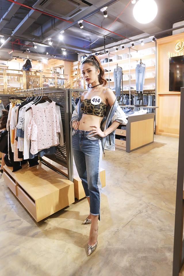 Dàn người đẹp Hoa hậu Hoàn vũ Việt Nam 2017 khoe sắc trong trang phục denim - Ảnh 3.