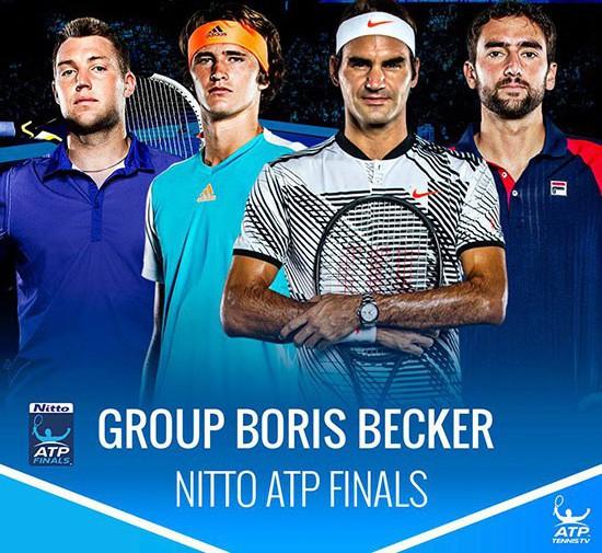 Kết quả bốc thăm ATP Finals 2017: Federer cạnh tranh cùng Zverev, Marin Cilic và Jack Sock - Ảnh 2.