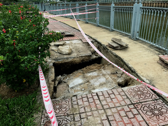 TP.HCM: Lại sụp lún nghiêm trọng ven kênh Nhiêu Lộc - Thị Nghè - Ảnh 2.