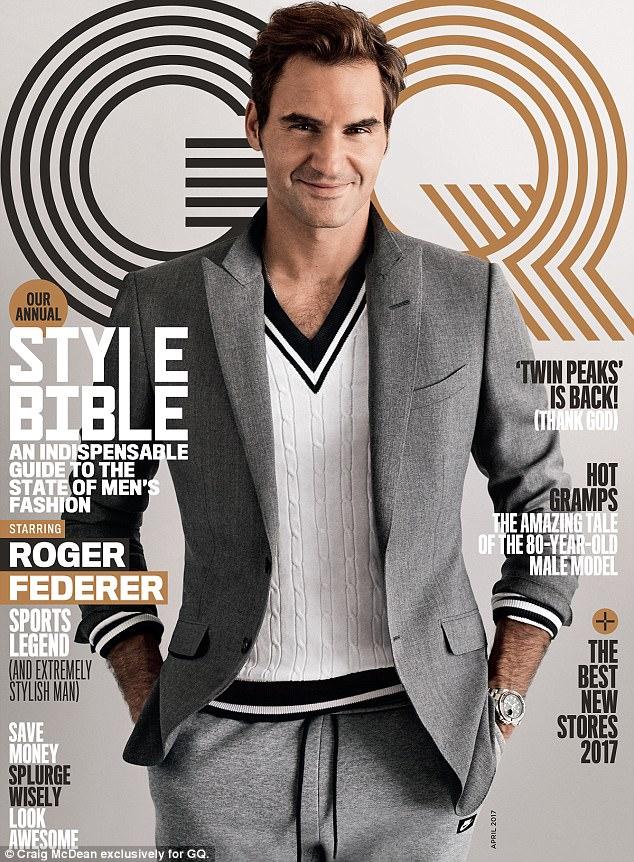 Phát sốt với vẻ lịch lãm của Roger Federer trên tạp chí GQ - Ảnh 2.